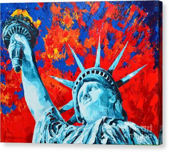 Statue Of Liberty - Lady Liberty Canvas Print