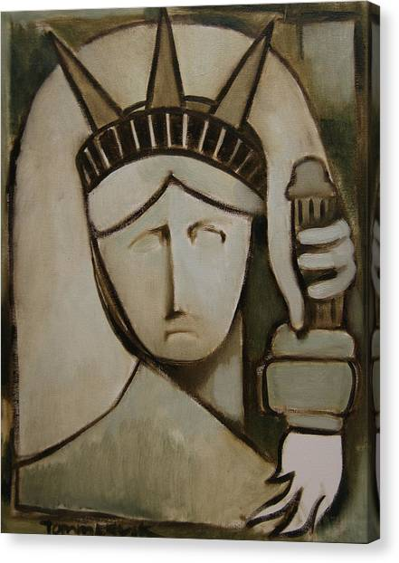 Tommervik Abstract Statue Of Liberty Art Print Canvas Print