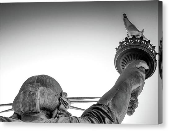 Statue Of Liberty Torch Detail, New Canvas Print