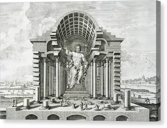 Vault Canvas Print - Statue Of Olympian Zeus by Johann Bernhard Fischer von Erlach