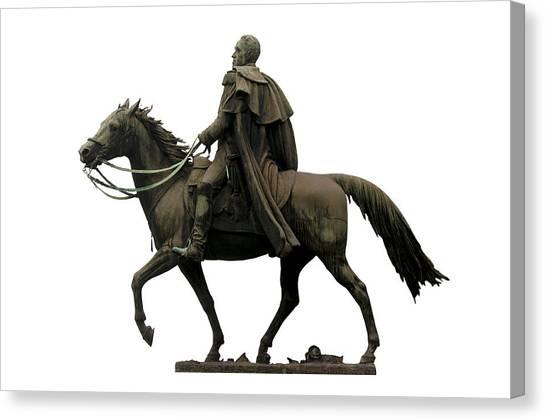 Venezuelan Canvas Print - Statue Of Simon Bolivar by Fabrizio Troiani