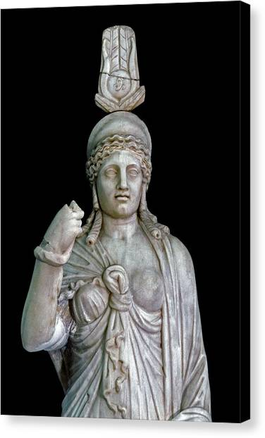 Hellenistic Art Canvas Print - Statue Of The Goddess Isis by Patrick Landmann/science Photo Library