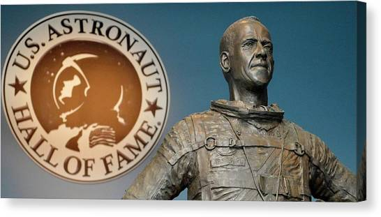 3.14 Canvas Print - Statue Of Us Astronaut Alan Shepard by Tony Craddock