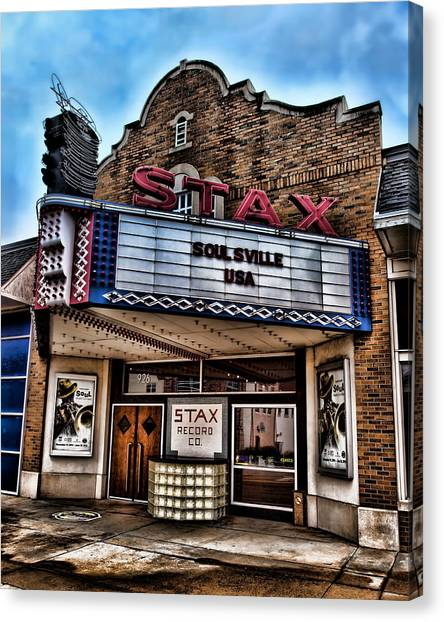 Satellite Canvas Print - Stax Records by Stephen Stookey