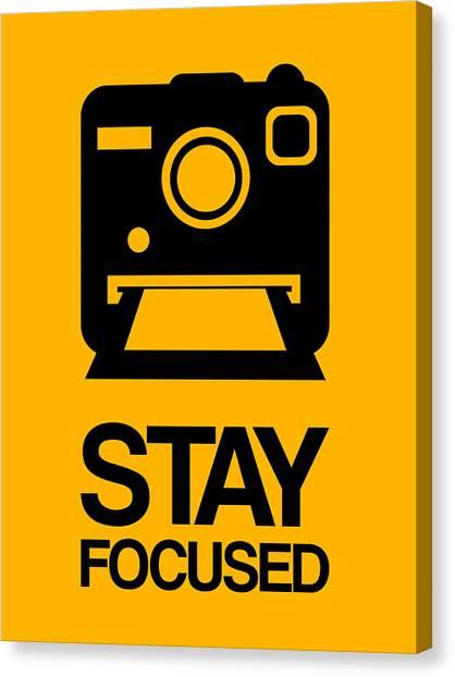 Camera Canvas Print - Stay Focused Polaroid Camera Poster 2 by Naxart Studio