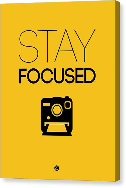 Hips Canvas Print - Stay Focused Poster 2 by Naxart Studio
