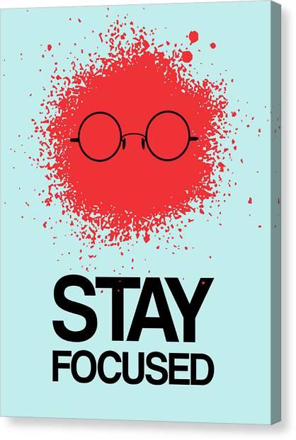 Film Camera Canvas Print - Stay Focused Splatter Poster 1 by Naxart Studio