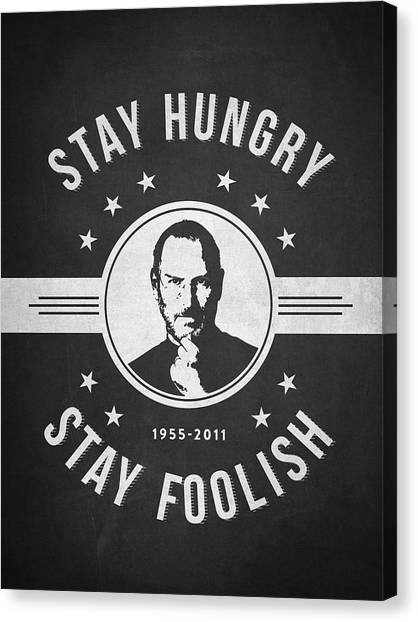 Mac Canvas Print - Stay Hungry Stay Foolish - Dark by Aged Pixel