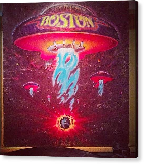 Ufos Canvas Print - Stay Strong Boston! #vinylparty by David S Chang
