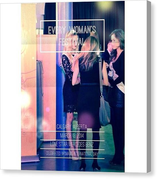 Presentations Canvas Print - Stay Tuned For Our #blogpost About by Fashionsign Magazine