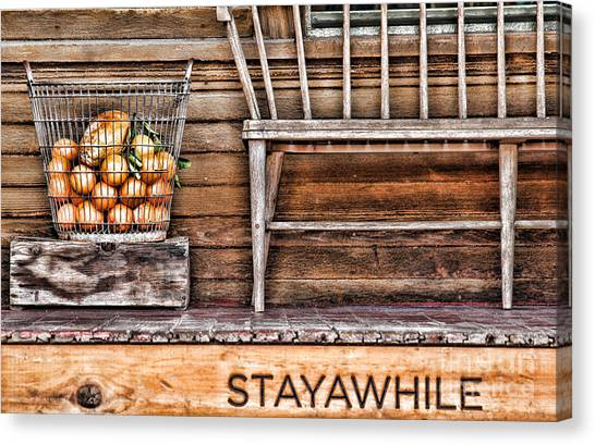 Stayawhile Canvas Print