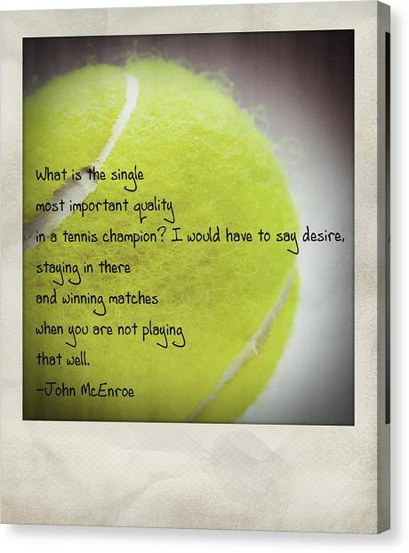 John Mcenroe Canvas Print - Staying In There And Winning Matches - John Mcenroe Polaroid by Bradley R Youngberg