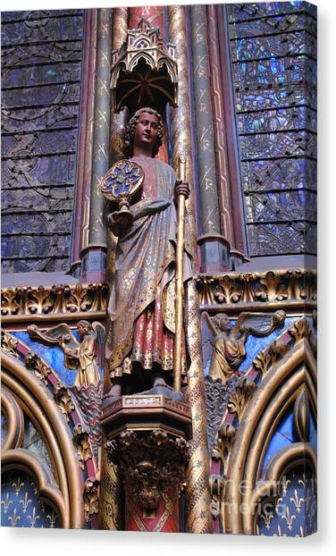 Ste.-chapelle - Detail Canvas Print by Jacqueline M Lewis