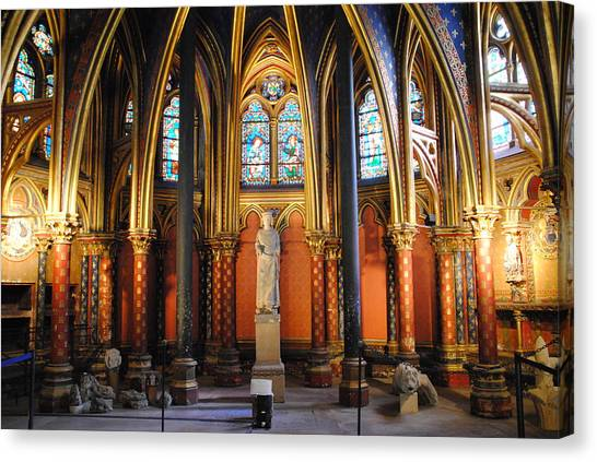 Ste.-chapelle Lower Chapel Canvas Print