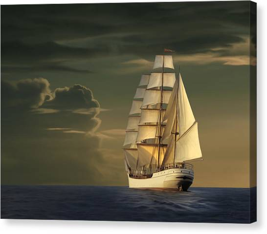 Atlantic 10 Canvas Print - Steadfast Voyage by James Charles