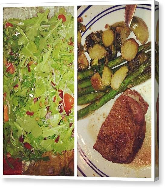 Asparagus Canvas Print - Steak, Greens, And More Greens 💚 My by Lyndsey Vizina