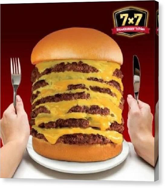 Hamburger Canvas Print - Steak N Shake Burger #texas #munchies by Brandon Fisher