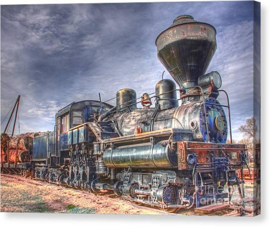 Steam Engine 7 Canvas Print by Katie LaSalle-Lowery