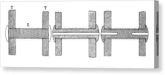 Braces Canvas Print - Steam Engine Braces by Science Photo Library