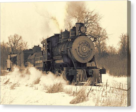 Steam Engine Number Two Canvas Print by Robert Kleppin