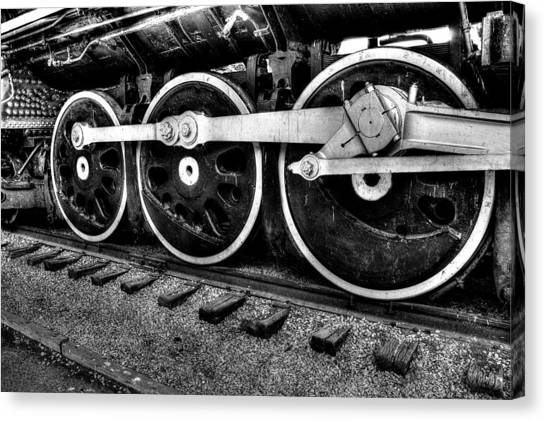 Steam Engine Wheels Canvas Print by Honour Hall
