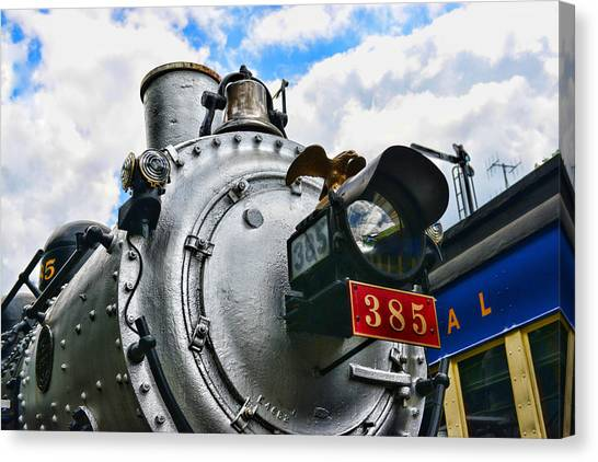 Train Conductor Canvas Print - Steam Locomotive No. 385 by Paul Ward