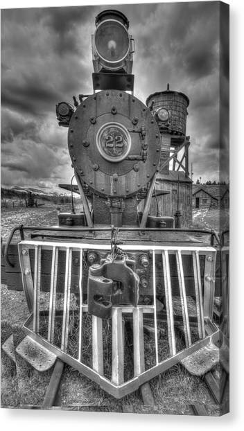 Steam Locomotive Train Canvas Print