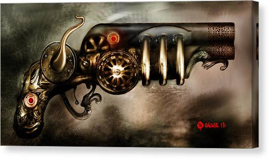 Steam Punk Pistol Mk II Canvas Print
