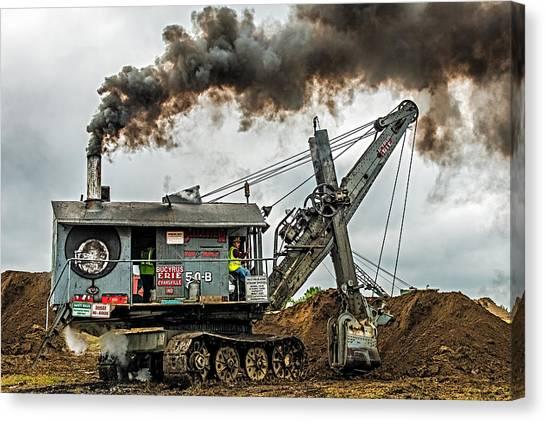 Evansville Canvas Print - Steam Shovel by Paul Freidlund
