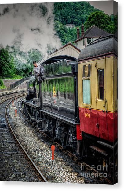 Locomotive Canvas Print - Steam Train 3802 by Adrian Evans