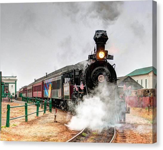 Canvas Print featuring the photograph Steam Train 45 by William Havle