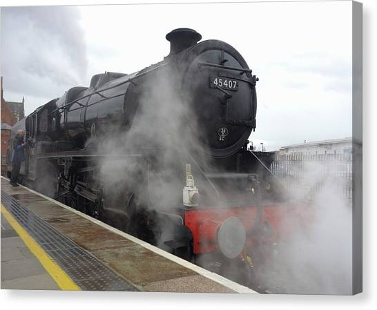 Trainspotting Canvas Print - Steam Train by Cordelia Molloy
