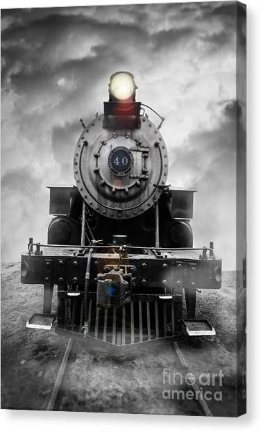 Train Canvas Print - Steam Train Dream by Edward Fielding