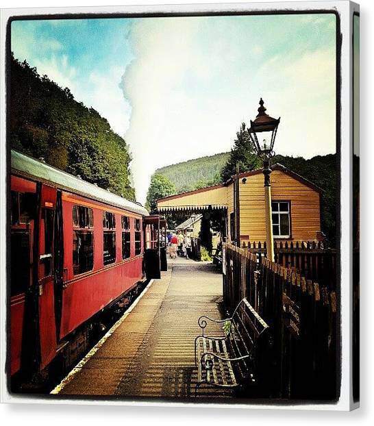 Steam Trains Canvas Print - #steam #train #railway #station by Peter Galazka