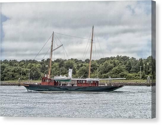Steam Yacht Cangarda Canvas Print
