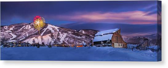 Steamboat Barn Canvas Print