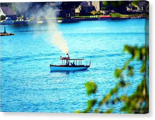 Steamboat On St. Lawrence River Canvas Print by Timothy Thornton