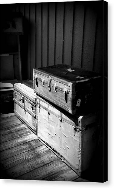 Canvas Print featuring the photograph Steamer Trunks by Beverly Stapleton