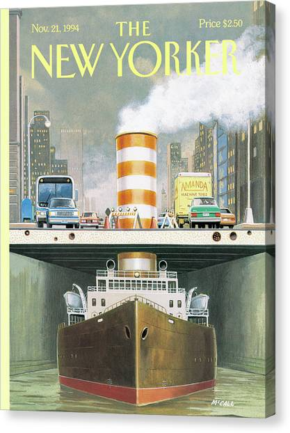 New Yorker November 21st, 1994 Canvas Print by Bruce McCall