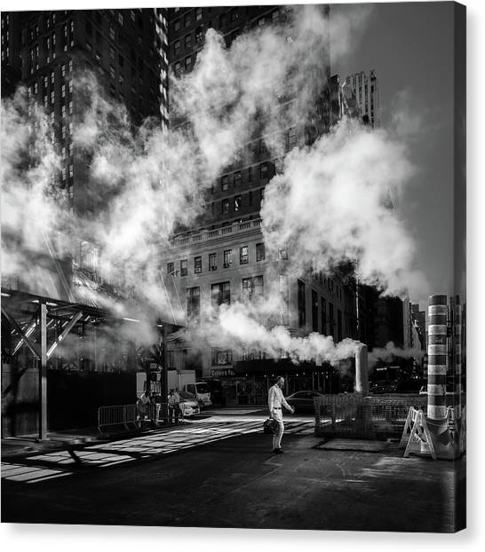 Industrial Canvas Print - Steaming by Eduardo Marques
