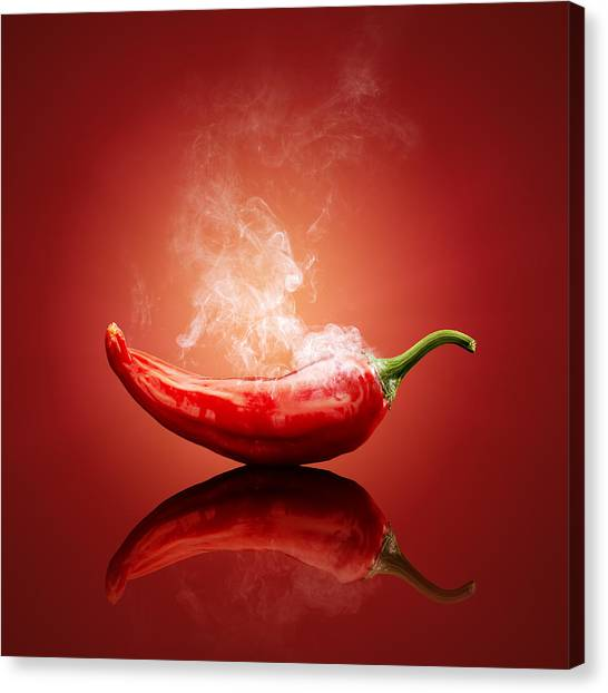 Indoors Canvas Print - Steaming Hot Chilli by Johan Swanepoel