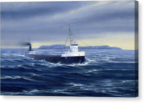 Sleeping Giant Canvas Print - Steaming Past A Giant by Captain Bud Robinson