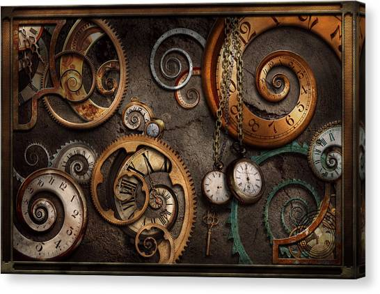 Spiral Canvas Print - Steampunk - Abstract - Time Is Complicated by Mike Savad