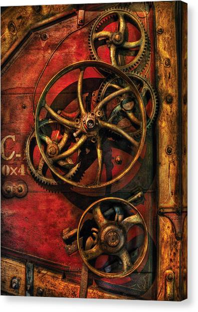 Automaton Canvas Print - Steampunk - Clockwork by Mike Savad