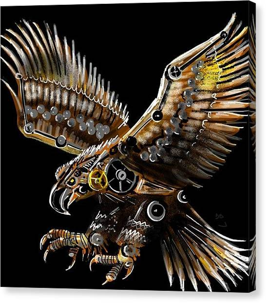Steampunk Canvas Print - #steampunk #eagle #eagleds2 #bird by David Burles