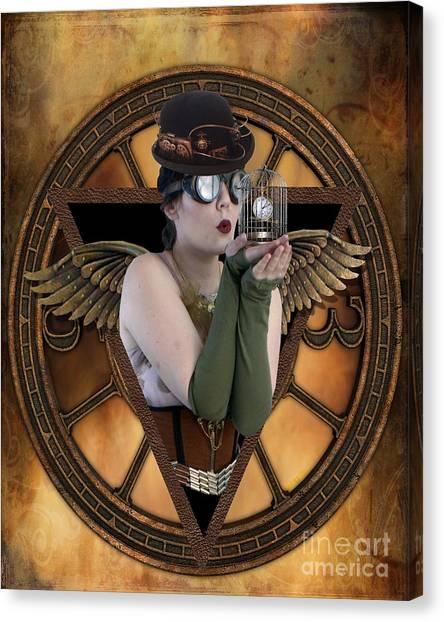 Futurism Canvas Print - Steampunk Fairy by Juli Scalzi
