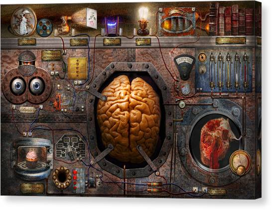 Steampunk - Information Overload Canvas Print