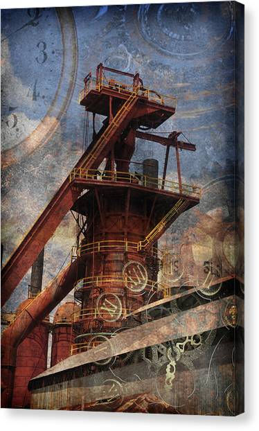Steampunk Iron Mill Canvas Print