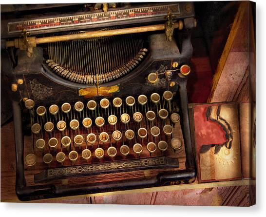 Steampunk - Just An Ordinary Typewriter  Canvas Print