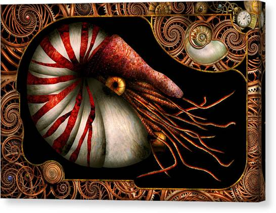 Atheism Canvas Print - Steampunk - Nautilus - Coming Out Of Your Shell by Mike Savad